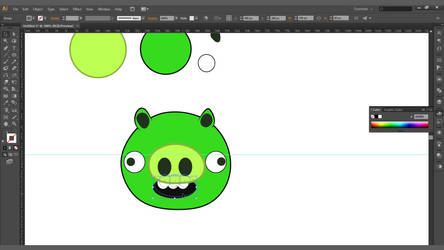 Create an Angry Birds Piggy in Adobe Illustrator