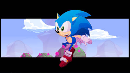 Sonic run animation