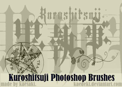 Kuroshitsuji Photoshop Brush by kaedeki