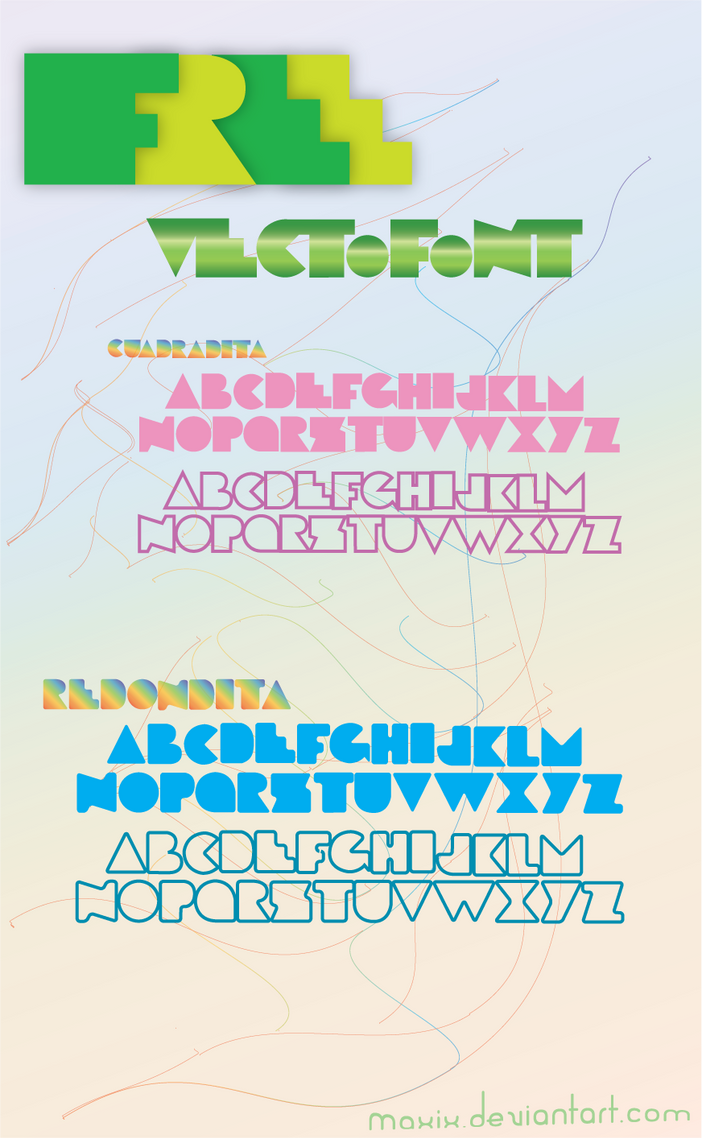Free Vecto Font by maxix