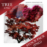 Tree -RED- Stock Png Pack (1)