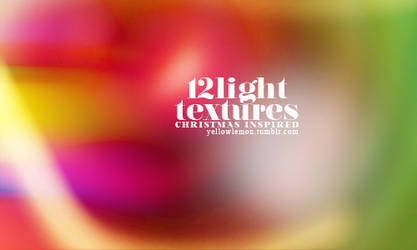 12 light textures, christmas inspired