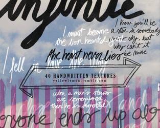 40 handwritten textures by mrs-padfoot