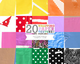 20 wrapping paper textures by mrs-padfoot