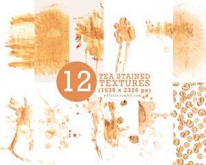 12 tea stained textures