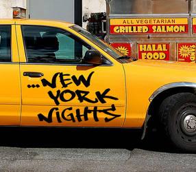 new york nights - tag font