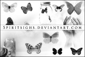 Butterflies 2 by spiritsighs-stock