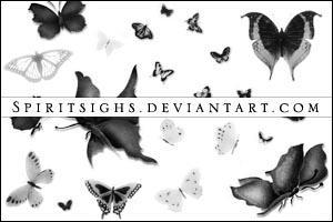 Butterflies 3 by spiritsighs-stock