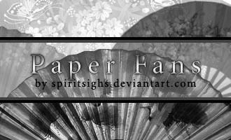 Paper Fans by spiritsighs-stock