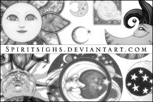 Celestial 4 Image Stamps by spiritsighs-stock