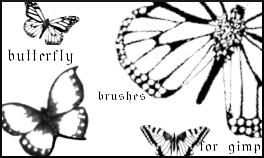 Butterfly Brushes for Gimp by rubyraindrops