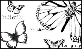 Butterfly Brushes for Gimp