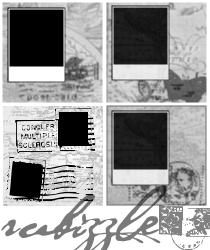 4 Gimp Polaroid Border Brushes by rubyraindrops