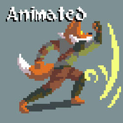 Animated - Pixel Fox Magic Punch