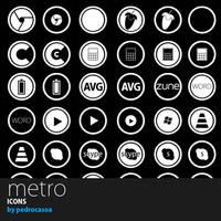 METRO icons by pedrocasoa