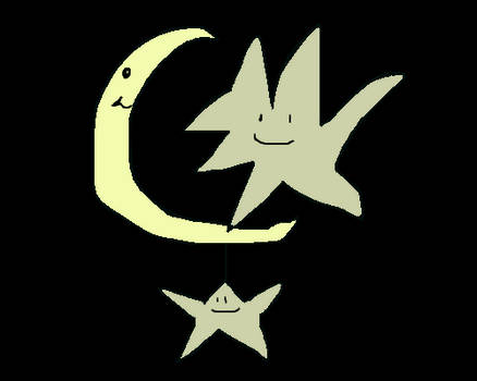 star and moon happy time lol