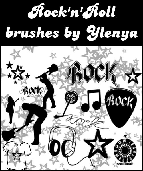 Rock-n-Roll-Brushes ___Rock__n__Roll_Brushes____by_violet_electric