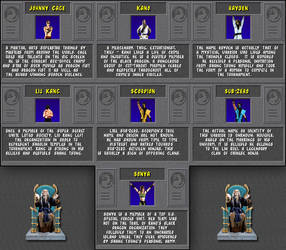 Mortal Kombat I - Bios