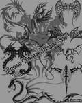 Tattoo Desing Brush Set