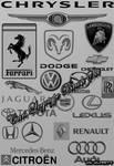 Cars Logotype Brush Set