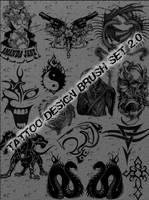 Tattoo Design Brush Set 2.0 by schmitthrp