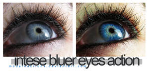 Intense bluer eyes action
