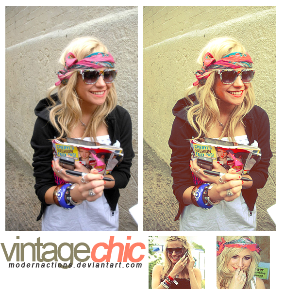 """action 014 """"VINTAGE CHIC"""" by ModernActions"""
