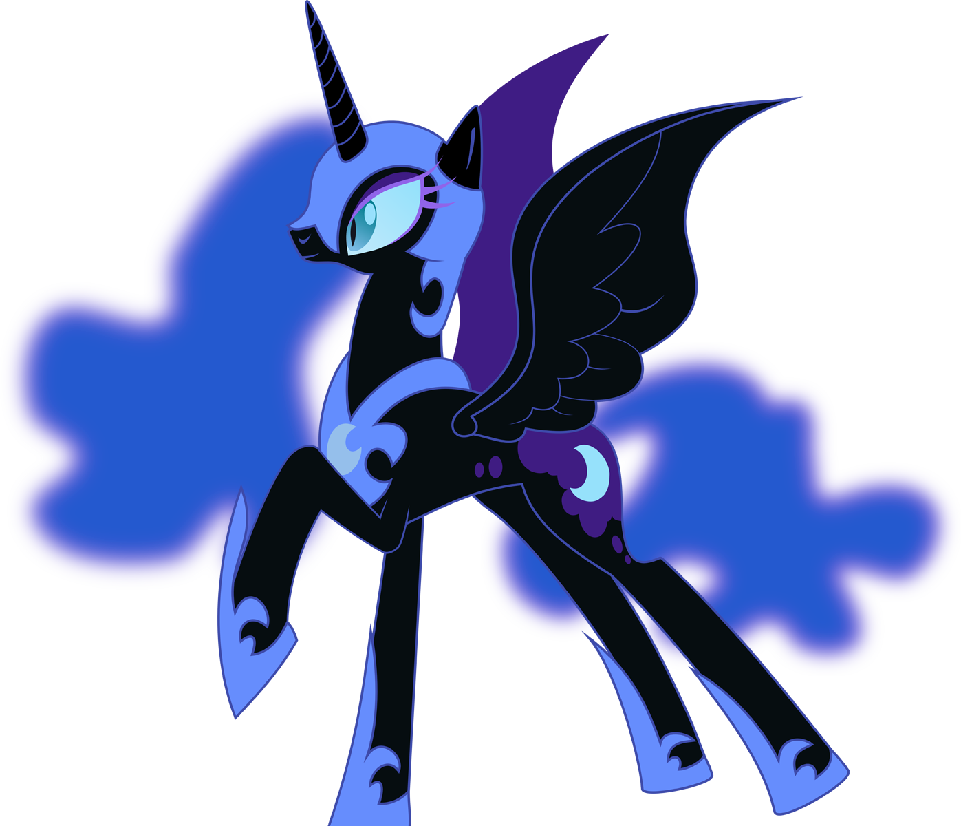Nightmare Moon Vector file by Lextsy on DeviantArt