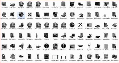 Black Vista Icons by TheDarkenedPoet