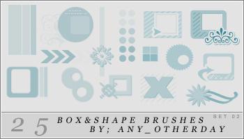 25 Box and Shape Brushes