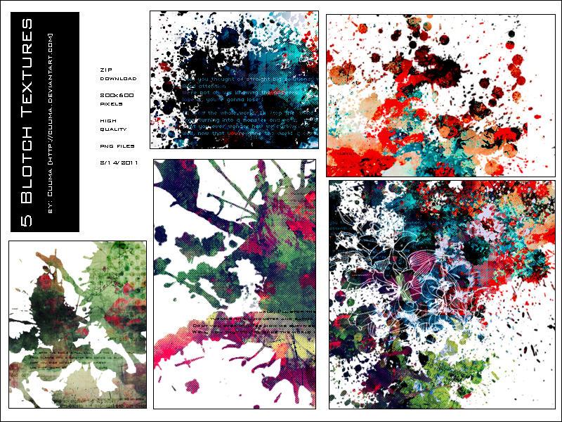Blotch Textures by Cuuma by Cuuma