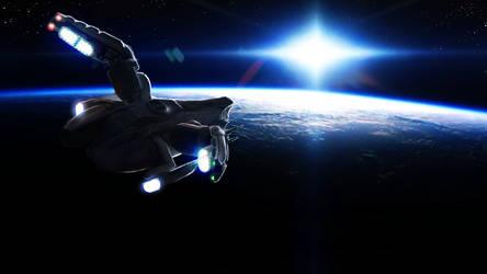 The Viper KL Starship - In Orbit by RetroLin