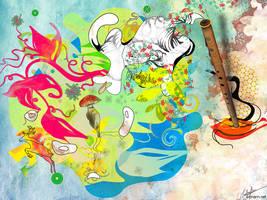 Rhythm of the Flute by archanN