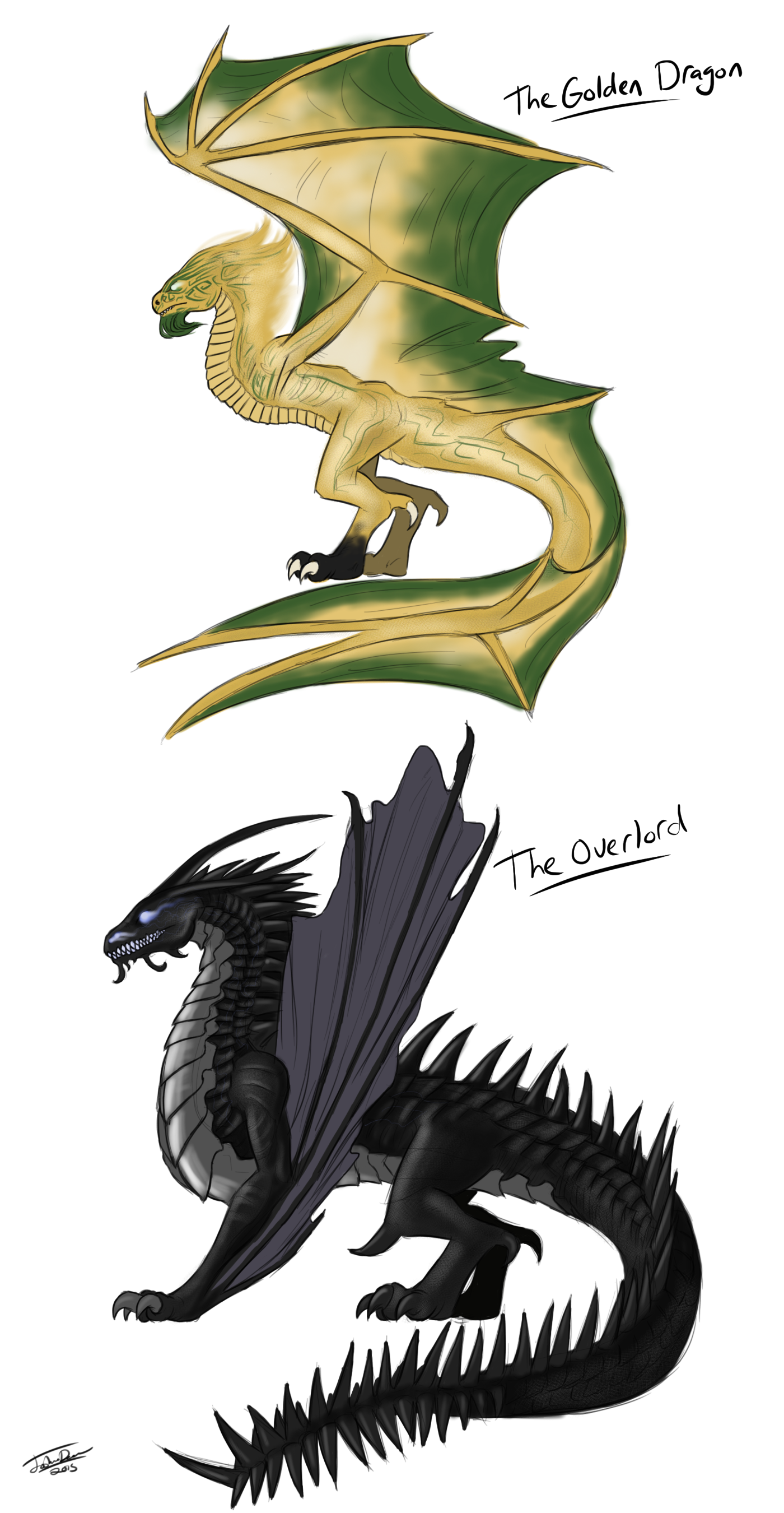 The Golden Dragon And The Overlord By Joshuad17 On Deviantart