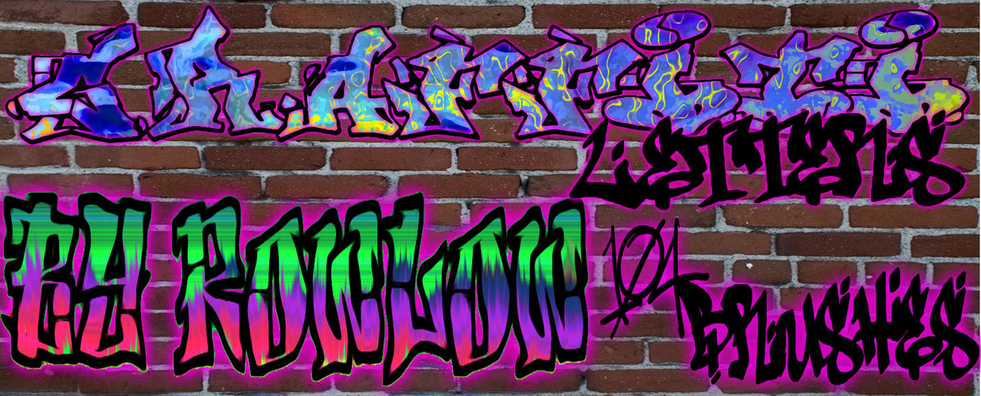 letters in graffiti brushes by rowlee