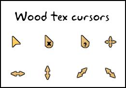 wood tex cursors by swapnil36fg