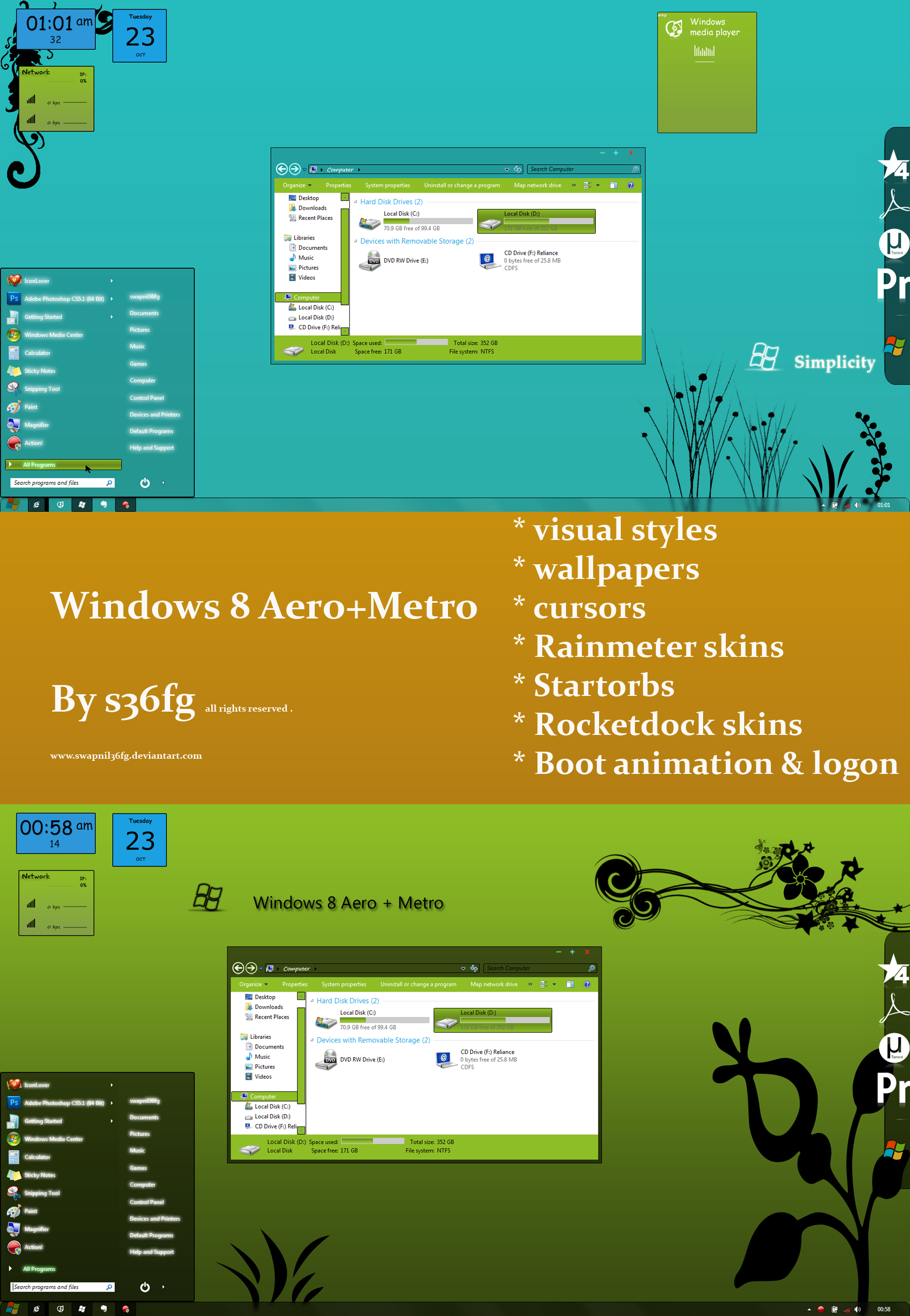 Windows 8 Aero+Metro vs by swapnil36fg