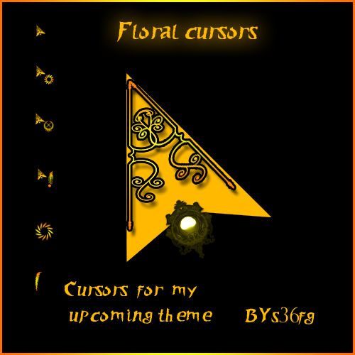 Floral cursors by swapnil36fg