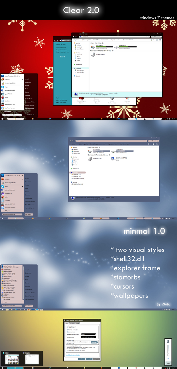 Wood texture theme for Win8/8.1/7