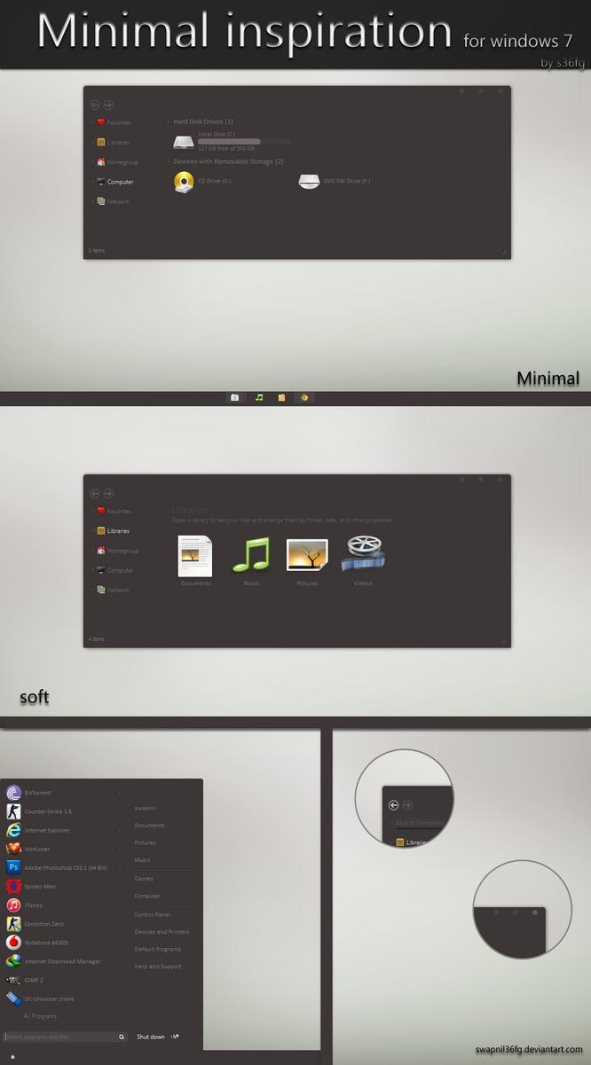 Minimal inspiration for windows 7 by swapnil36fg