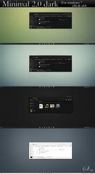 Minimal 2.0 dark for windows 7 by swapnil36fg