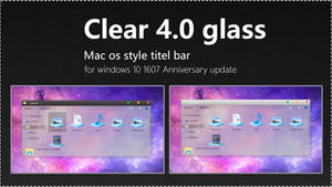 mac os style-Clear 4.0 glass by swapnil36fg