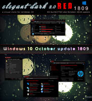 Elegant 2.0 dark RED for w10 1809 by swapnil36fg