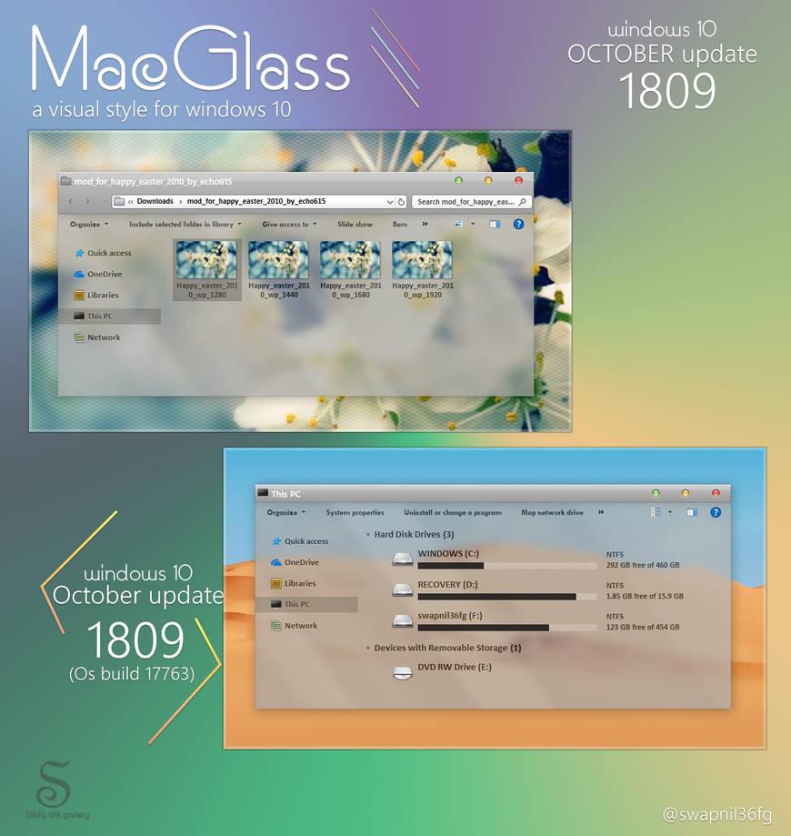 mac os glass for w10 1809