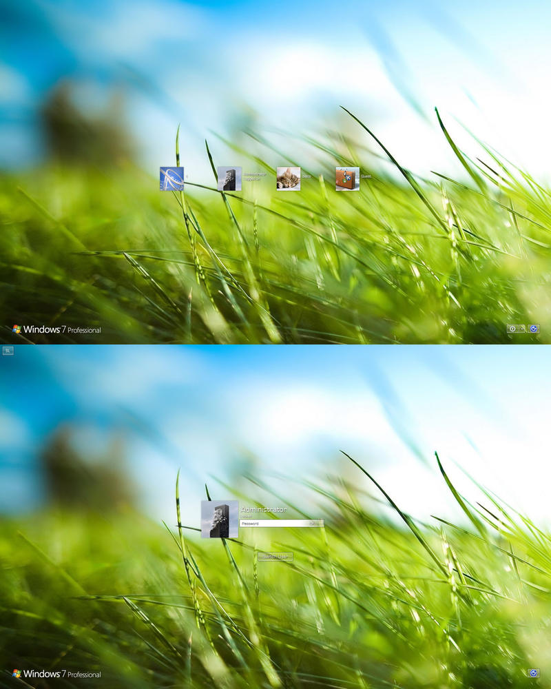 Aero Grass Logon Windows 7 by dejco