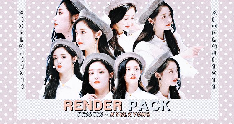 render pack /// PRISTIN - KYULKYUNG by Xioelgji1911