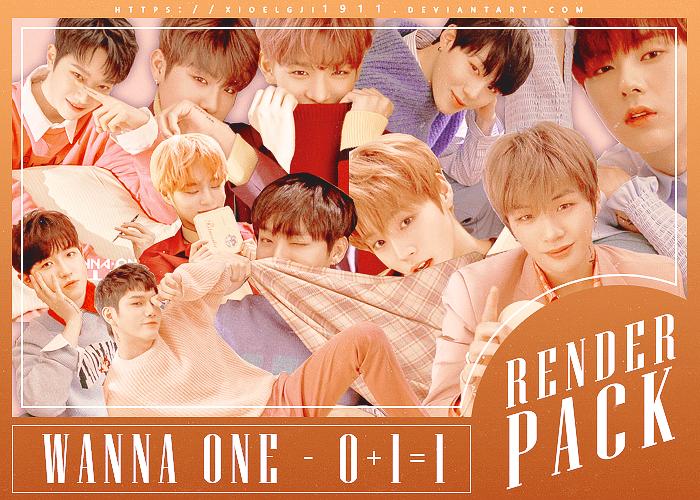 Render Pack /// WANNA ONE - 0 + 1 = 1 by Xioelgji1911
