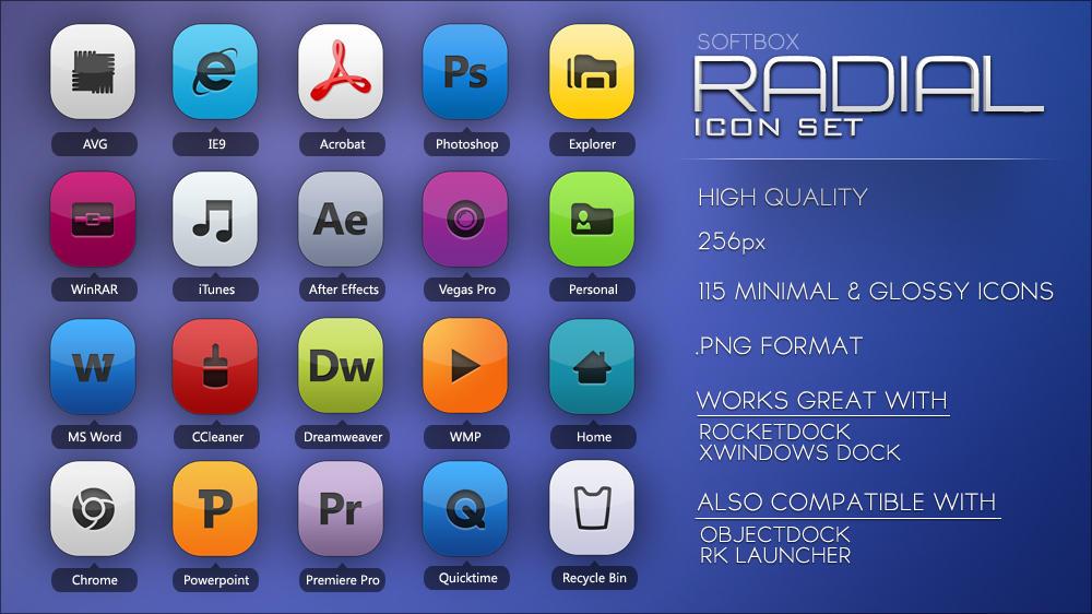 Radial Icon set by Softboxindia