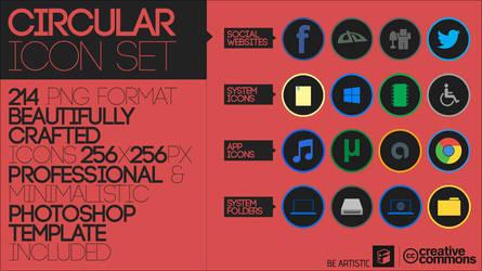 Circular Icon Set by Softboxindia