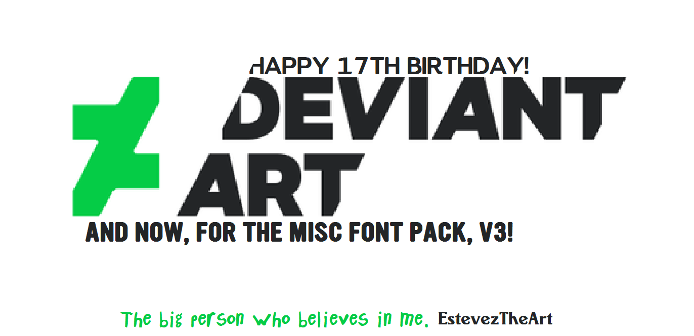 Download Misc Font Pack, V3! by EstevezTheArt on DeviantArt